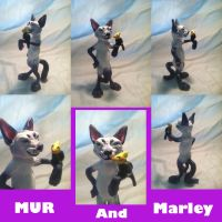 Mur and Marley by shadowwolfsculptures