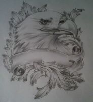 eagle/hawk tattoo design by tattoosuzette