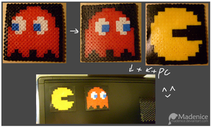 Pacman and Red Ghost by Madenice