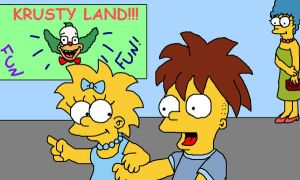 krusty land front cover by tigertaiga