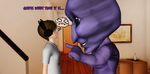 Ao Oni and PewDie by AleNor1
