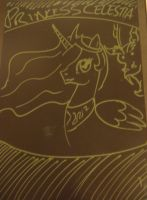 Boogie Board Discord and Celestia by DemonKaizoku