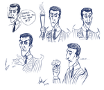 Don't starve - Maxwell sketches by TheCreatorsEye