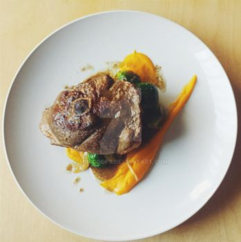 Lamb Steak with Butternut Squash purree by Minicoops
