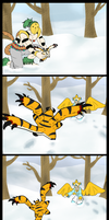 Mighty Warrior in the Snow by SkullCollectorCubone