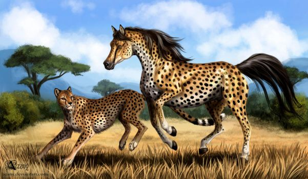 Cheetah Horse by Azany