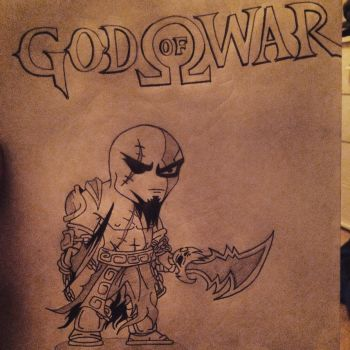 My version of Chibi Kratos, God Of War  by comicrockstar