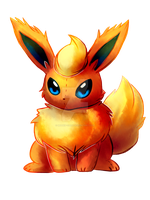 Peluche flareon by mudkip-chan
