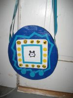 Duct Tape Tamagotchi Bag by oinkboinky