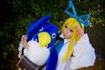 Flonne and Prinny by Witchiko