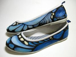 Butterfly Ballet Flats by Amaltheea