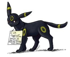 Pokemon Shaming: Umbreon by selkie-gal