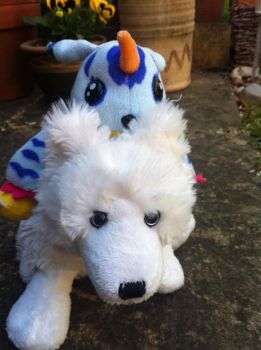 Digimon plushie by thebabby4