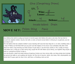Gina's Troll sheet and bio by DudeWheresMyLion