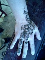 Henna flower by Kjasmin