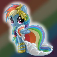 Filly Rainbow Dash: Gala Dress by RainbowJune