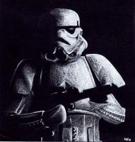 White on Black Stormtrooper by otakuhobbit