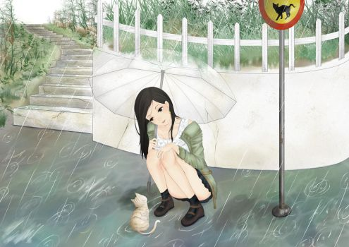 You can stay under my umbrella by Amano-M