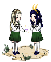 Thranduil and Loki with candy by ChibiWing