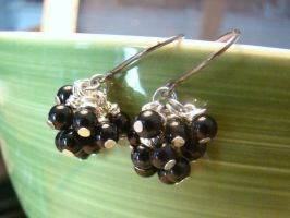 Onyx Cluster Earrings by Mommy-of-Monsters