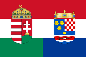 Flag of Hungary-Croatia by TiltschMaster