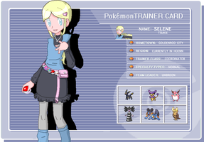 Selene Trainer Card by MinaMinaKawaii