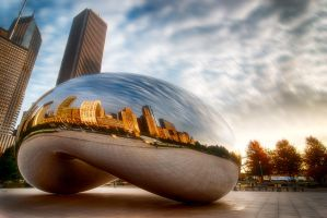 Chicago Bean, love of a city by alierturk