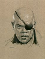 Nick Fury by Stungeon