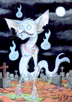 Ghost kitty by Chocolatechilla