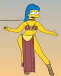 Marge as Leia by paulibus2001
