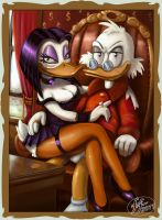 Scrooge and Magica by 14-bis