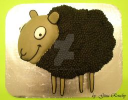 Sheep Cake 2 by ginas-cakes