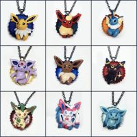 Eeveelution Pop-Out Bottle Cap Necklaces by LeiliaClay