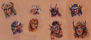 So many faces by ISIDORdragon