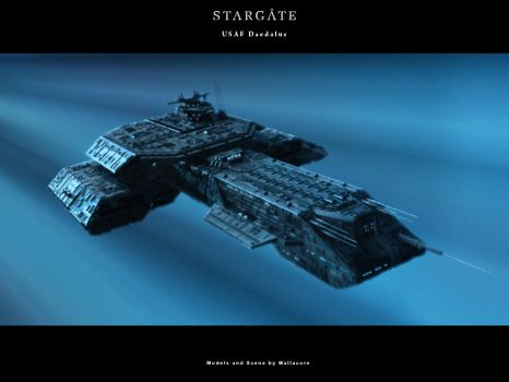 USAF Daedalus In Hyperspace by Mallacore