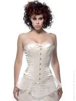 White 'corset' Wedding by RobertRSanders