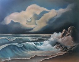 Waterscape with soft pastels by AleksandarskiArt