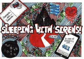 Band Doodle: Sleeping With Sirens by Geo-Zombie