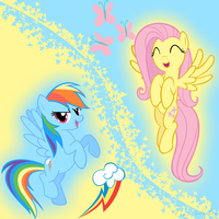 Fluttershy and Rainbow Dash in Harmony by Ackdari