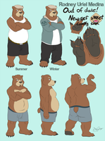 Rodney bear ref sheet by Dj-Rodney