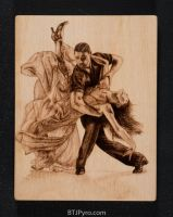 Dancing - Handcrafted Woodburning by brandojones
