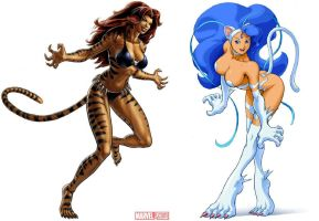 Tigra VS Felicia by FAP77