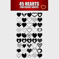 Free 45 Heart Custom Shapes by CindaLawrencers