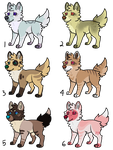 OTA: Canine Pups 01 (5/6 Left!) by necrovut
