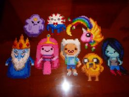 Adventure Time fuse-bead art by wolfmier