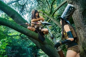 League of Legend - Nidalee and Caitlyn sheriff by Chromulee