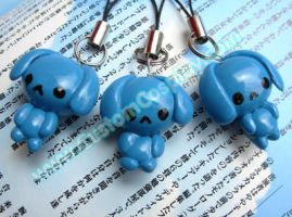Blue Bunny charms by The-Cute-Storm