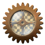 Steampunk Gear with Clock STOCK by ValerianaSTOCK