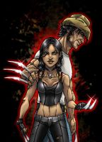 Weapon Xs: Wolverine and X-23 by Marvelfans