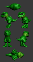 3D Dino Project (School art) by Daffupanda